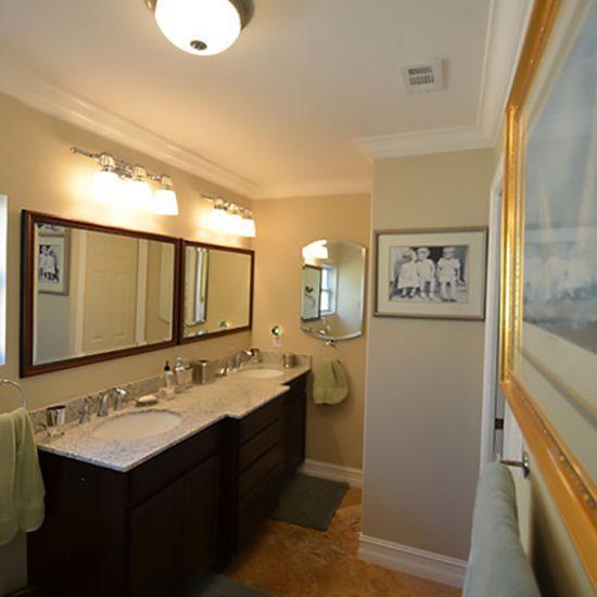 An Egret Named Eddie Master Bath Dual Sinks | CSE Properties, Naples, FL
