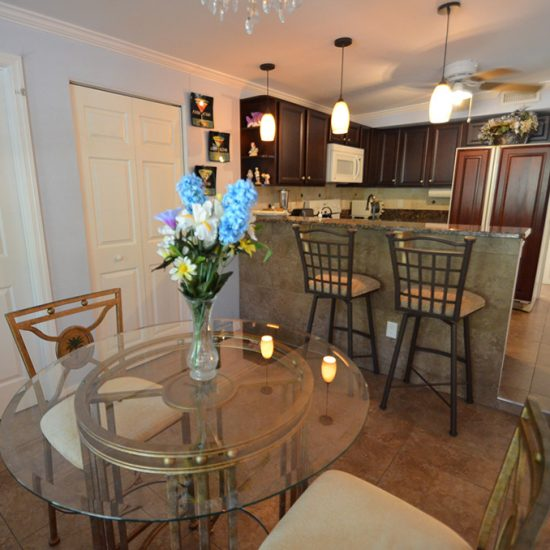 CSE Properties - Crystal Palms Kitchen Dining Area and Breakfast Bar