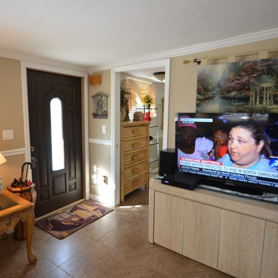 CSE Properties - Crystal Palms Living Room and Front Door