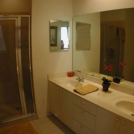 Easy Getaway Master Bathroom | CSE Properties, Naples, FL