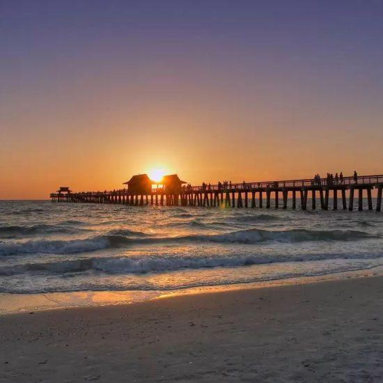 Naples Pier at Sunset | CSE Properties, Naples, FL