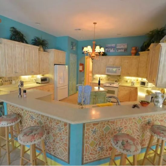 Natalya's Tropical Estate Paradise Kitchen Dining CSE Properties Vacation Home Rentals Naples FL