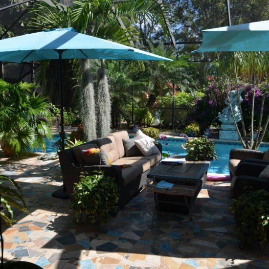 CSE Properties   Natalyau0027s Tropical Estate Paradise Patio