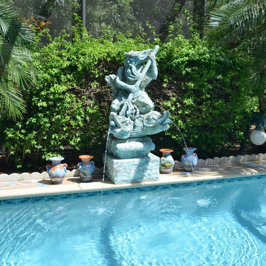 CSE Properties - Natalya's Tropical Estate Paradise Pool Decor
