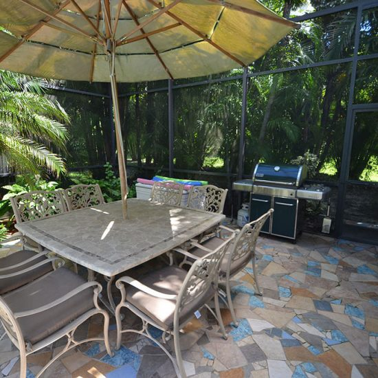 CSE Properties - Natalya's Tropical Estate Paradise Grill Area
