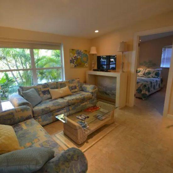 The Pelican Nest Living Room | CSE Properties Vacation Home Rentals Naples FL