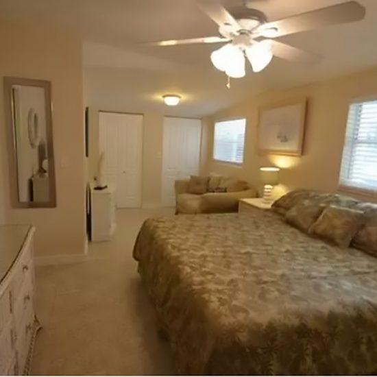 The Pelican Nest Master Bedroom | CSE Properties Vacation Home Rentals Naples FL