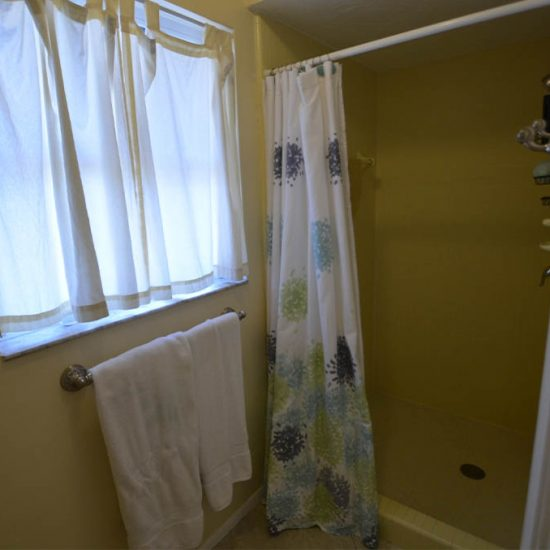 CSE Properties – Sarasota Beach Getaway Guest Bathroom Shower