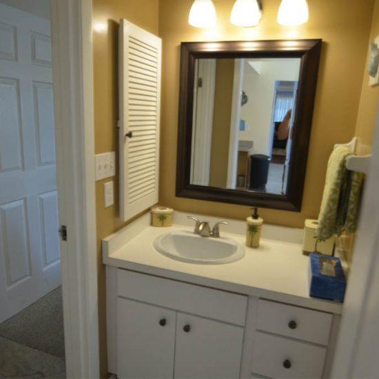 CSE Properties – Sarasota Beach Getaway Guest Bathroom Vanity