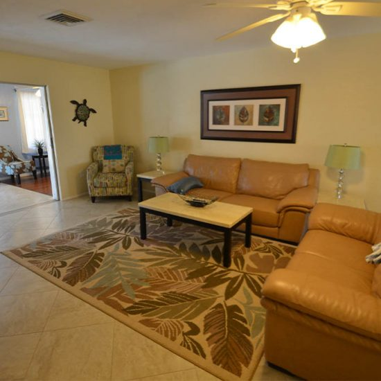 CSE Properties – Sarasota Beach Getaway Living Room