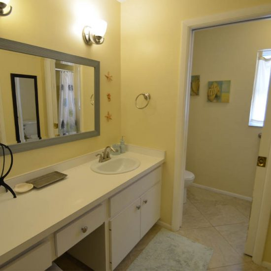 CSE Properties – Sarasota Beach Getaway Master Bathroom Vanity