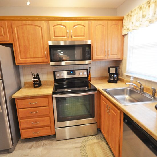 CSE Properties – Turtle Lakes Kitchen with New Stainless Steel Appliances