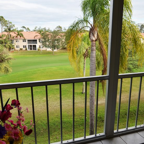 CSE Properties – Turtle Lakes Screened Lanai Golf Course View