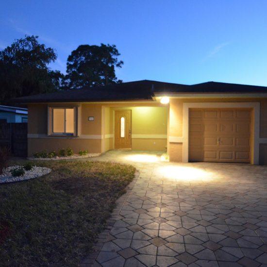 CSE Properties - Vanderbilt Vacation Villa Front Exterior at Night
